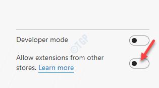 Las extensiones de borde permiten extensiones de otras tiendas