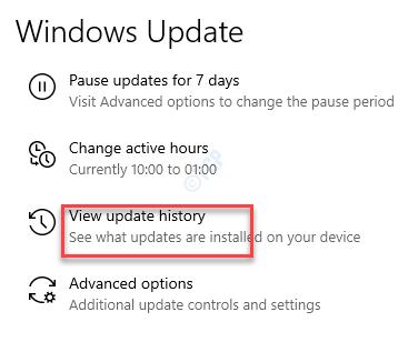 Configuración Actualización de Windows Ver historial de actualizaciones