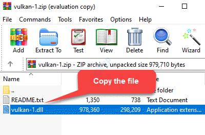 Copia del archivo Zip File Vulkan 1.dll