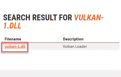 Nombre de archivo Vulkan 1.dll Link