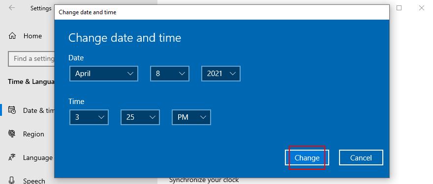 Windows 10 muestra cómo cambiar la fecha y la hora