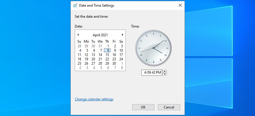 Windows 10 muestra cómo configurar la fecha y la hora