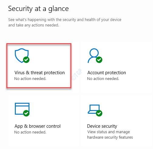 Windows Security Home Protección contra amenazas y virus del lado derecho