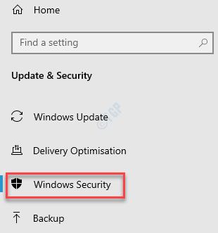 Configuración Actualización y seguridad Seguridad de Windows