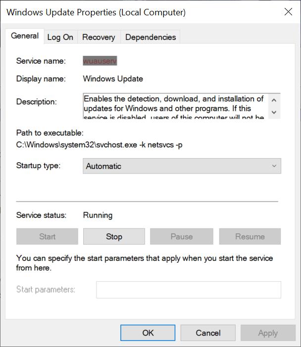 actualización automática de Windows