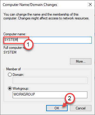 Guardar el nombre mínimo