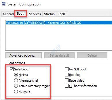 Configuración del sistema Opciones de arranque Opciones de arranque seguro Seleccionar opciones Aplicar Aceptar