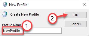 Nuevo perfil mínimo