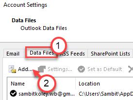 Mínimo de archivos de datos