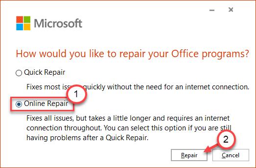 Mínimo de reparación en línea
