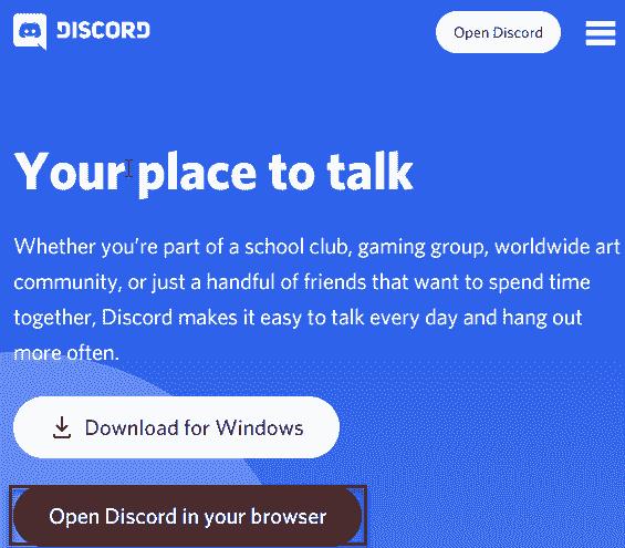 Open Discord Min
