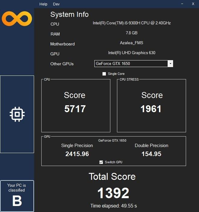 Infinity Bench es una aplicación gratuita de Windows que evalúa el rendimiento de la CPU y los gráficos de su computadora