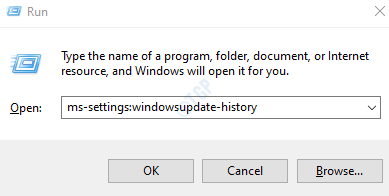 ms-settings: windowsupdate-history