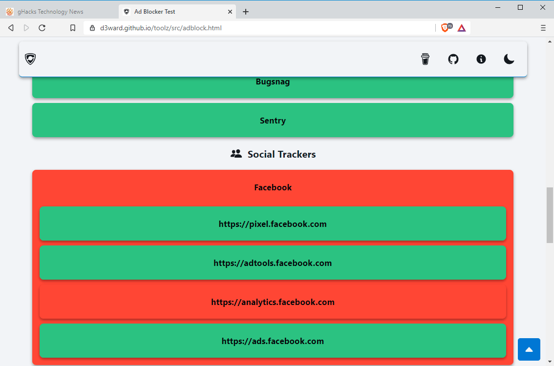 conexiones desbloqueadas bloqueadas