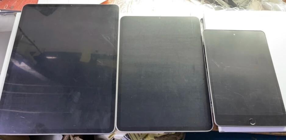 De izquierda a derecha, maquetas del iPad Pro de 12,9 pulgadas, iPad Pro de 11 pulgadas y el nuevo iPad mini: un analista dice que el crecimiento del iPad de Apple liderado por COVID conducirá a la presentación de tres nuevos modelos el martes.