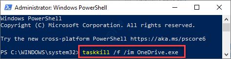 Task Kill Onedrive