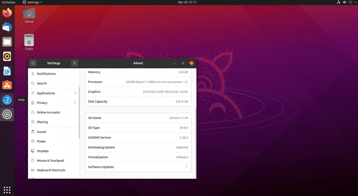 actualizar a Ubuntu 21.04