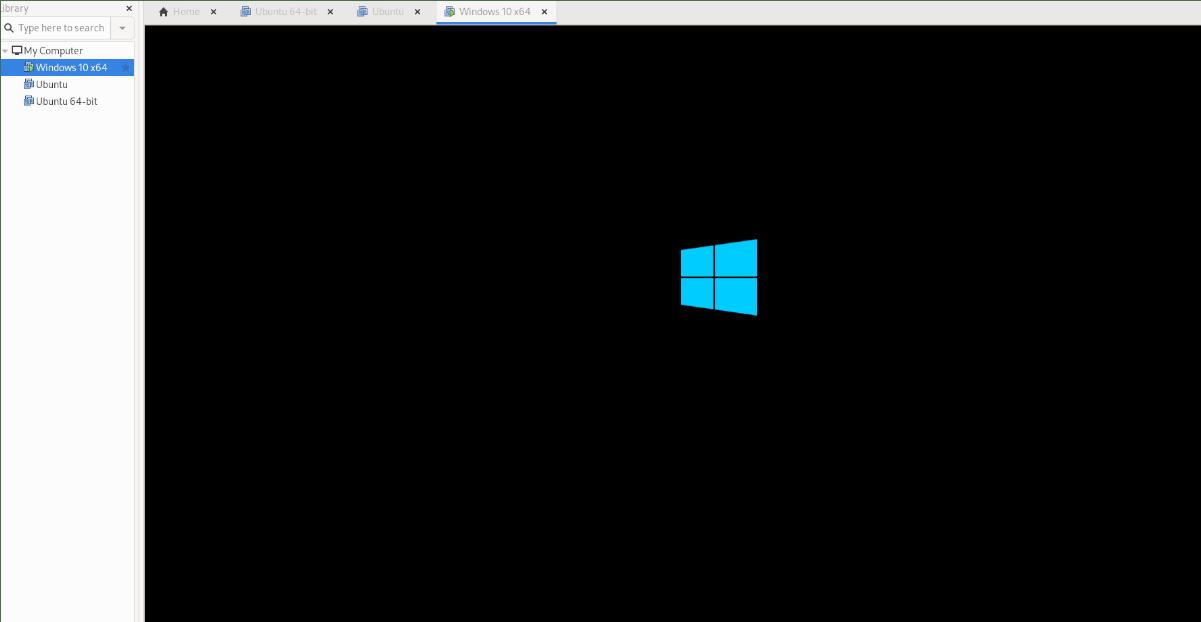 VM de Windows 10 en VMware en Linux