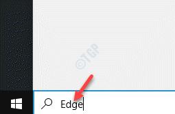 Iniciar la barra de búsqueda de Windows Edge