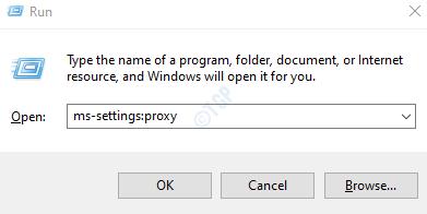 proxy de configuración
