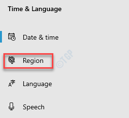 Configuración Hora e idioma Región