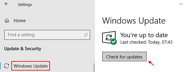Actualización mínima de Windows