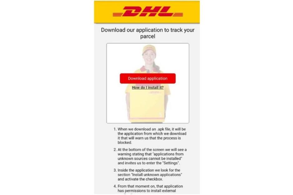 El verdadero DHL nunca le pedirá que haga esto: el nuevo y aterrador malware de Android se dirige a millones de usuarios;  aquí le mostramos cómo mantener sus datos seguros