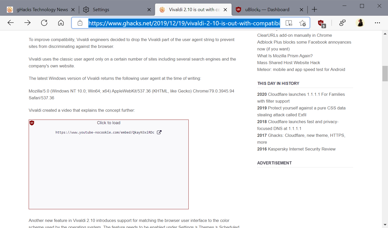 ublock origin haga clic para cargar