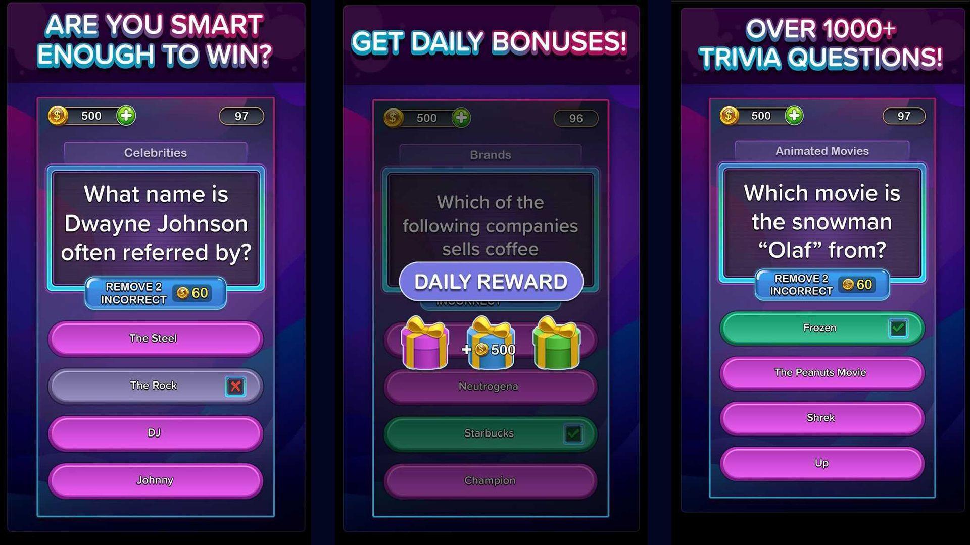 Trivia Star es el juego de preguntas ideal para jugar mientras mira televisión o escucha un podcast.