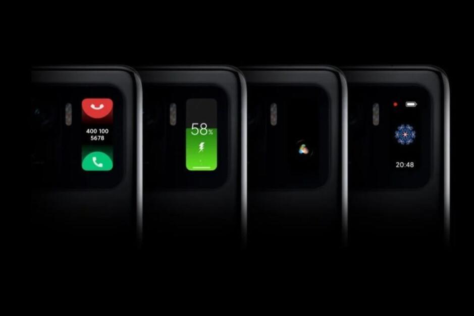 Xiaomi Mi 11 Ultra usa una pantalla Mi Band 5 en la parte posterior