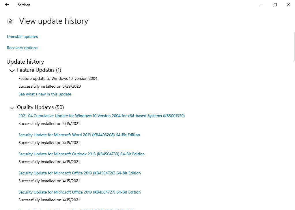 Se informa que KB5001330 Windows Update está causando una caída en el rendimiento de los juegos, instalaciones fallidas y ciclos de arranque