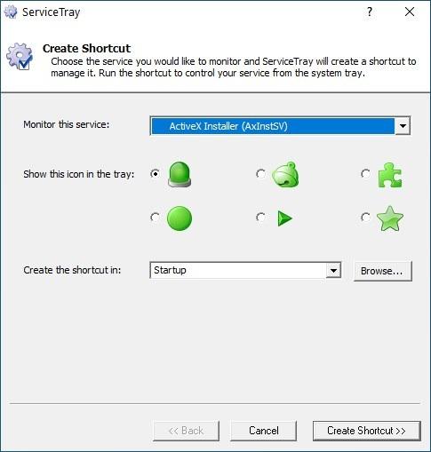 ServiceTray le permite controlar cualquier servicio de Windows rápidamente desde la bandeja del sistema