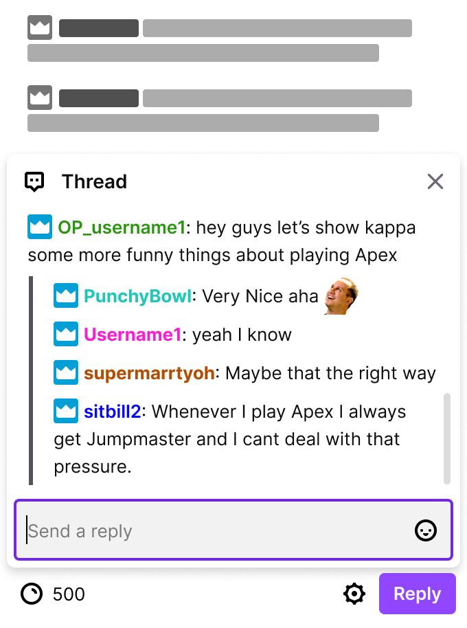 Twitch finalmente está lanzando respuestas enhebradas al chat