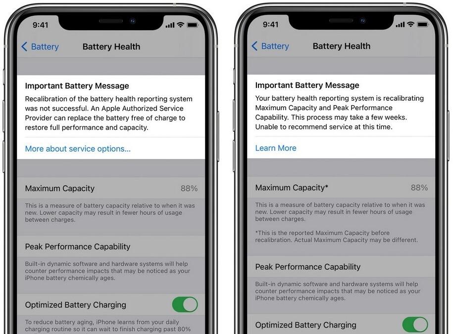 Los usuarios de la serie Apple iPhone 11 recibirán mensajes durante el proceso de recalibración de la batería: la próxima actualización de iOS agrega una función que recalibra la batería en las unidades de la serie iPhone 11