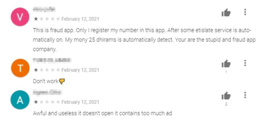 Comentarios negativos como estos son una señal de que la aplicación que está buscando instalar es malware y debe evitarse: ¡estas ocho aplicaciones de Android realizan compras no autorizadas y deben desinstalarse ahora!