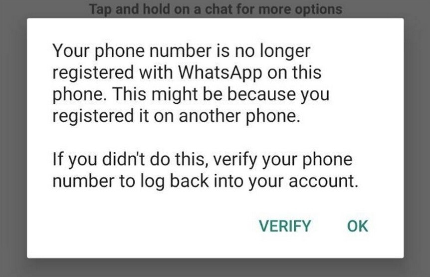 Los atacantes pueden desactivar su cuenta de WhatsApp sin su permiso; el atacante puede usar el número de teléfono de un suscriptor de WhatsApp para suspender su servicio