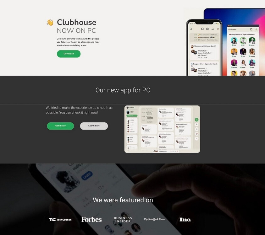 El anuncio falso de Clubhouse para PCF se utiliza para que las víctimas instalen software cargado de malware: los anuncios falsos de una versión inexistente de Clubhouse propagan malware a las víctimas