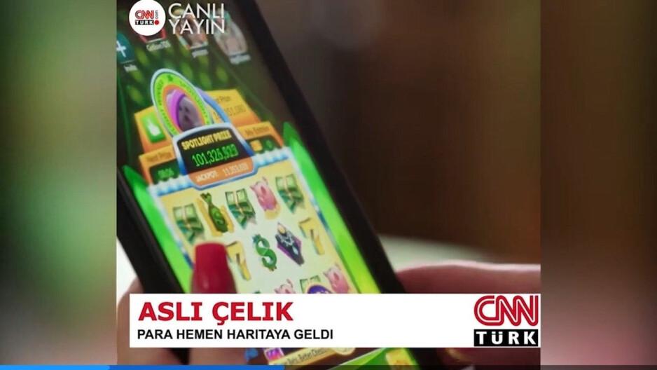 Esta imagen falsa se utilizó para promocionar JungleRunner 2k21.  No se publicó ninguna historia en CNN y no hay CNN Turks: la aplicación básica para niños iOS se duplicó como un casino en línea secreto