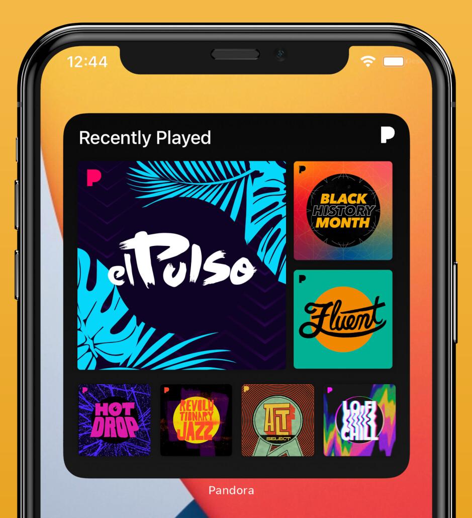 Pandora lanza un nuevo widget de pantalla de inicio para iPhones y iPads