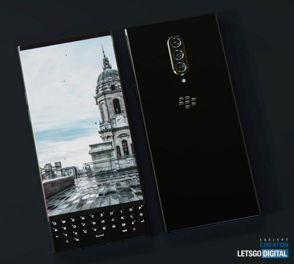 Representación conceptual del próximo teléfono 5G BlackBerry: la representación conceptual del primer BlackBerry 5G revela una pantalla curva, un teclado QWERTY físico y más