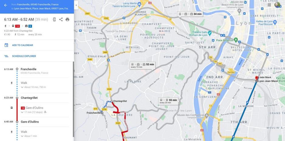 Una actualización de Google Maps en algunas ciudades incluye datos de transporte público mejorados: después de la actualización, Google Maps ya no le ofrecerá la ruta más rápida de forma predeterminada