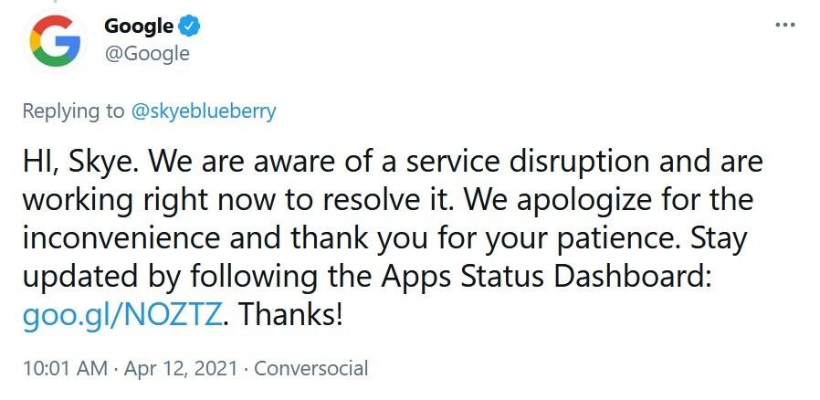 Google confirma que varias de sus aplicaciones están inactivas a medida que avanza la semana laboral de EE. UU.; Google sabe que algunas de sus aplicaciones populares no funcionan en la actualidad.