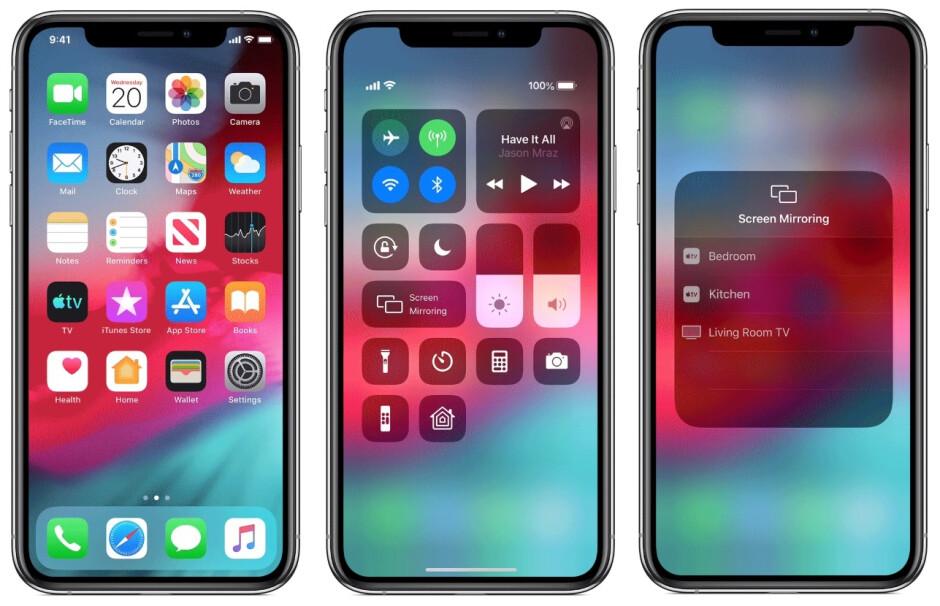 Simplemente deslice el dedo hacia abajo desde la esquina superior derecha de la pantalla de su iPhone, luego toque Screen Mirroring para encontrar dispositivos cercanos que sean compatibles con AirPlay - Cómo conectar un iPhone o iPad a un televisor o monitor de computadora