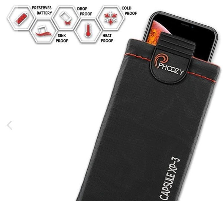 El Phoozy XP3 protege su teléfono inteligente del agua, el calor, el frío y las gotas: el Phoozy protege su teléfono de las gotas, el agua, los elementos y más
