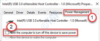 Desmarque Permitir que la computadora se apague este minuto