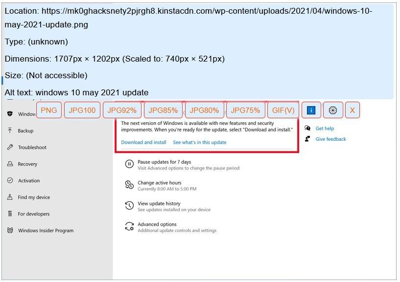 Guarde WebP como extensión PNG o JPEG de Firefox