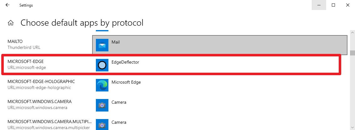 microsoft edge redirigir a otro navegador