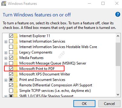 Marque Microsoft Print To Pdf