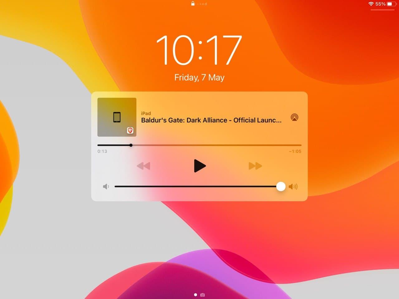 Brave playlist ios: controla la reproducción desde la pantalla de bloqueo