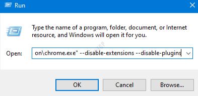 Cromo sin extensiones
